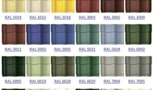 Какого цвета может быть металлочерепица