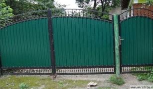 Ворота из профнастила: элегантность и практичность