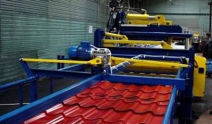 Этапы производства металлочерепицы